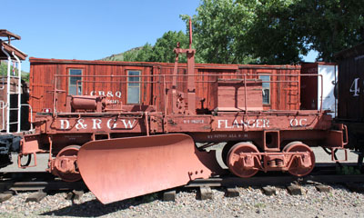 DRGW Flanger Plow #OC, Colorado Railroad Museum