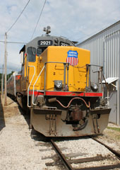 UP SD40T-2 #2921, Boone