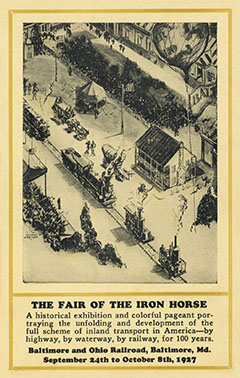 Fair of the Iron Horse, Postcard