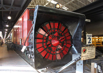NP Rotary Plow #2, Lake Superior Railroad Museum