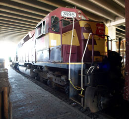 WC D SD45 #7495, Lake Superior Railroad Museum
