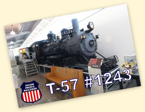 UP T-57 #1243, Durham Western Heritage Museum in Omaha, NE