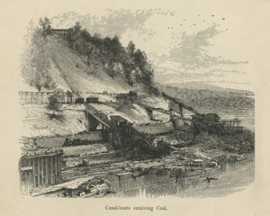 Canal Boats Receiving Coal, Picturesque America