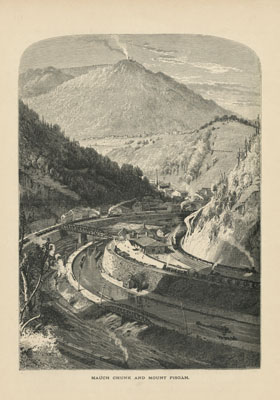 Mauch Chunk and Mount Pisgah, Picturesque America