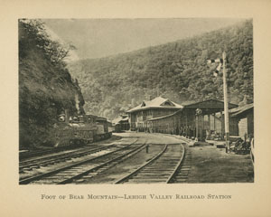 Foot of Bear Mountain-Lehigh Valley Railroad Station, Souvenir of Mauch Chunk
