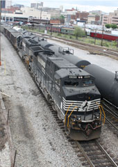 NS GE C40-9W #9365 and NS EMD SD60 #6699, Roanoke Classification Yard