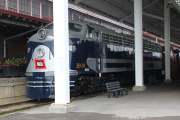 WAB EMD E8 #1009, Virginia Museum of Transportation