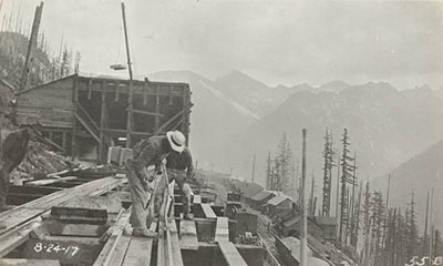 Great Northern Snow Shed Construction, Stevens Pass