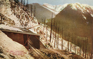 Wooden Snow Shed, Cascade Mountains
