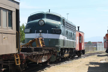 NP EMD F9 #6703A, Inland NW Rail Museum