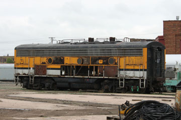 DRGW EMD F9 #5763, UP Cheyenne Roundhouse