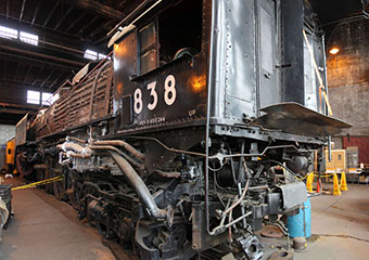 UP FEF-3 #838, UP Cheyenne Roundhouse